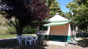 Bungalow Camping New Rabioux 3 étoiles Alpes du Sud Serre Ponçon Durance