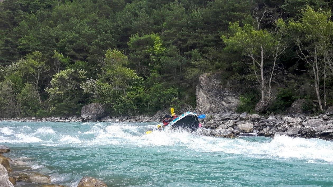 Raft vague du rabioux - Serre Ponçon Camping New Rabioux Châteauroux les Alpes Serre Ponçon Hautes Alpes